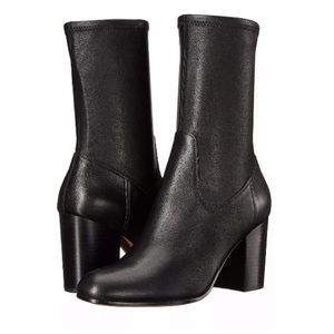 """COACH """"BOND"""" BROWN LEATHER ANKLE BOOTIES 7"""